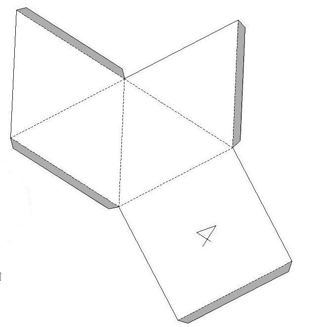 Развертка пирамиды — очень