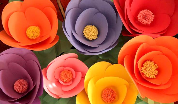 Трафарет цветок своими руками шаблоны 42
