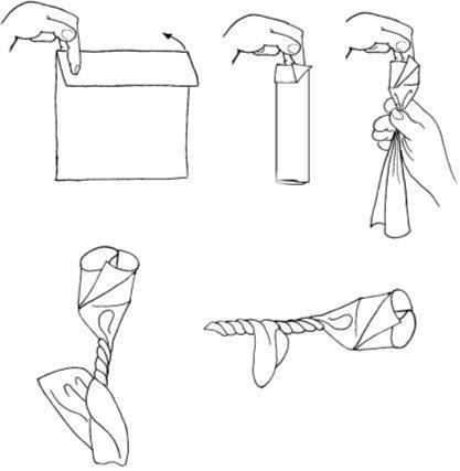 Оригами. роза из салфетки