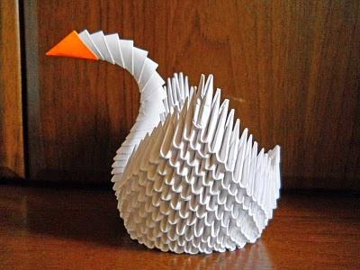 птички. lebed origami