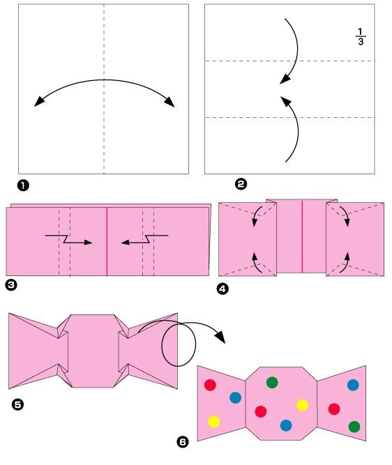 Как сделать бумажные конфеты своими руками