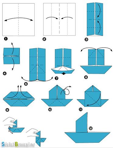 как сделать лодку из бумаги пошаговая инструкция - фото 5