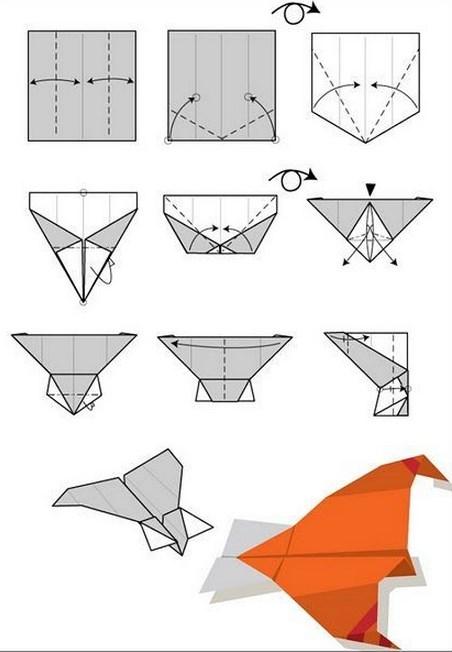 Как сделать оригами летающего самолета