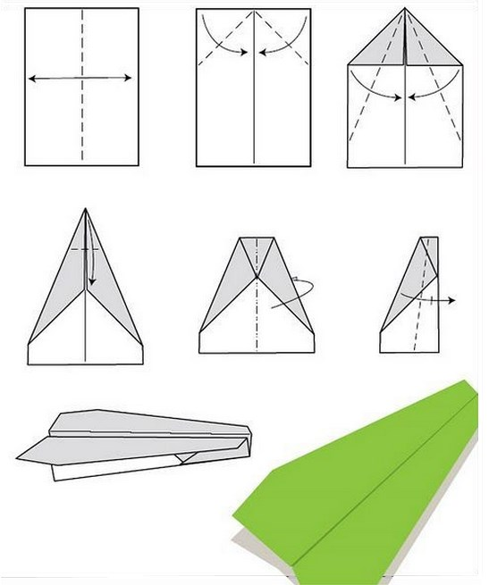 Схема самолетов из бумаги своими руками