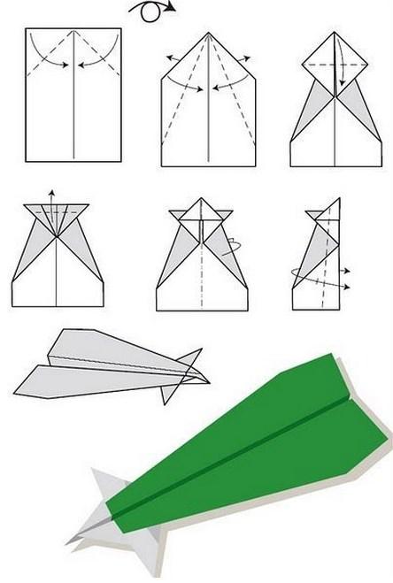 самолета из бумаги.