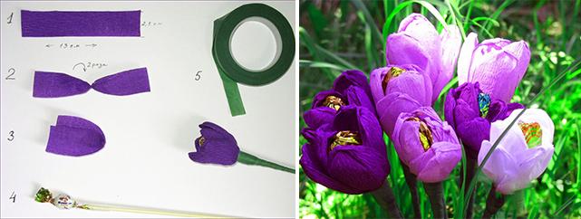 Тюльпан своими руками из конфет фото 289