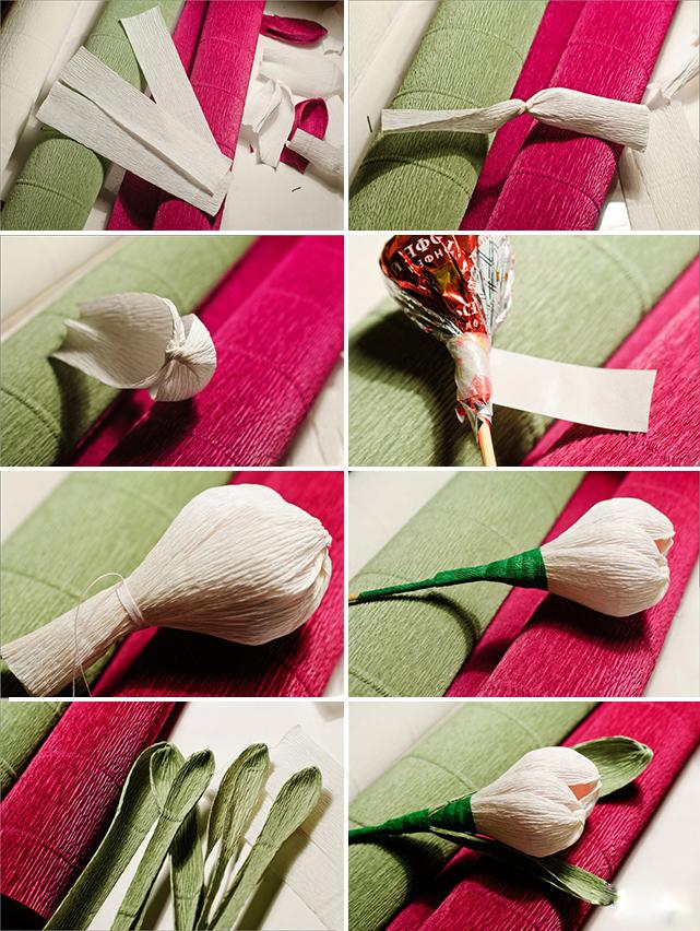 Цветок с конфетой своими руками пошаговое фото 30