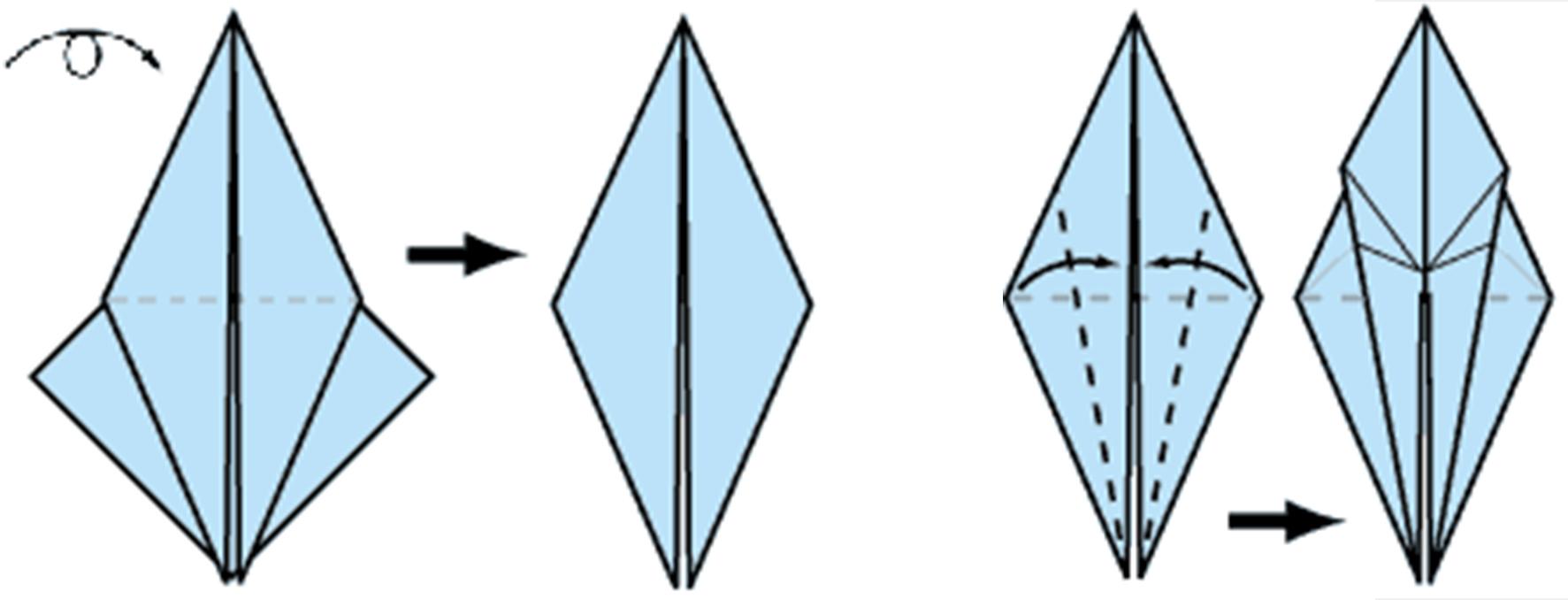 Как сделать журавлей из бумаги  фото 198