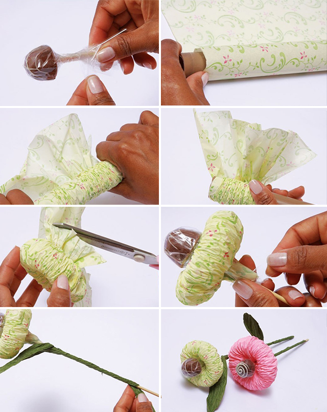 Сделать цветы из конфет своими руками для начинающих пошагово