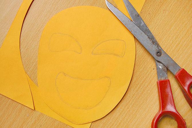 Как сделать лицо из бумаги фото 442